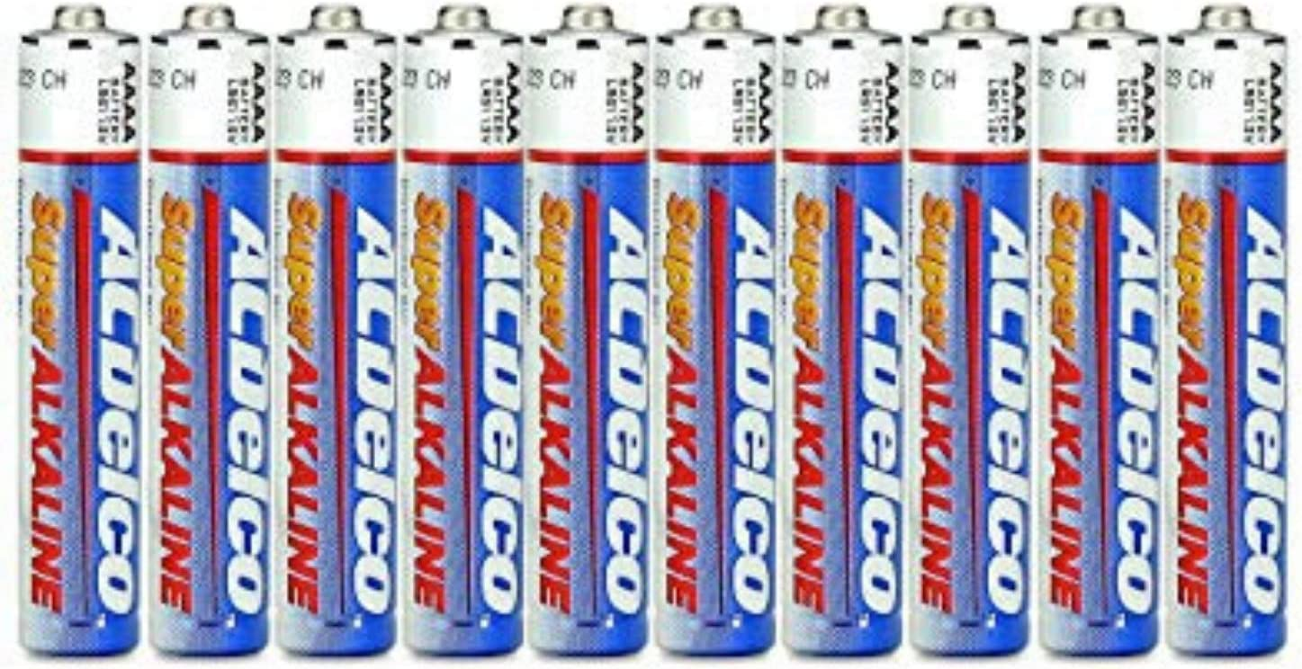 ACDelco 10-Count AAAA Batteries, Maximum Power Super Alkaline Battery, Use for Glucose Meters and Blood Monitors, 10-Year Shelf Life: Health & Personal Care
