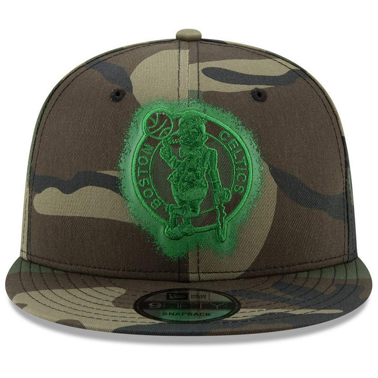 pretty nice ef0e3 90f1f New Era Boston Celtics 9FIFTY Overspray Snapback Cap NBA, Hat Camo at  Amazon Men s Clothing store
