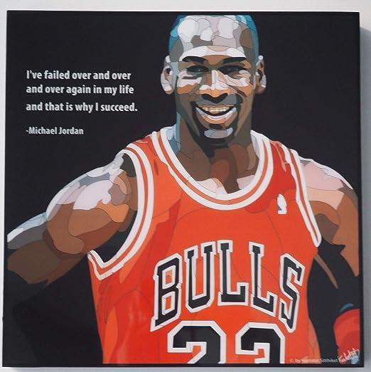 GLAGOODS - Póster de Michael Jordan Chicago Bulls NBA (Vinilo ...