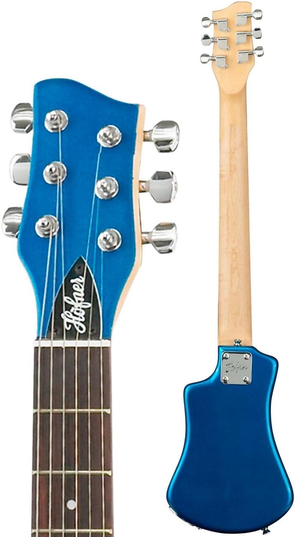 Hofner HCT - Guitarra corta, color azul: Amazon.es: Instrumentos musicales