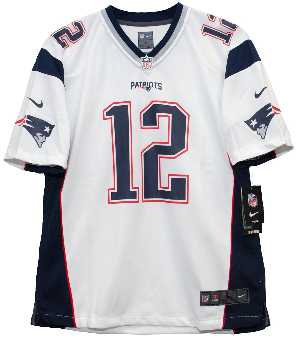 youth tom brady jersey white
