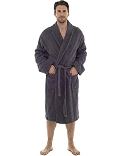Men Towelling Robe 100% Cotton Terry Towel Bathrobe Dressing Gown Bath  Perfect for Gym Shower 30dd7f298