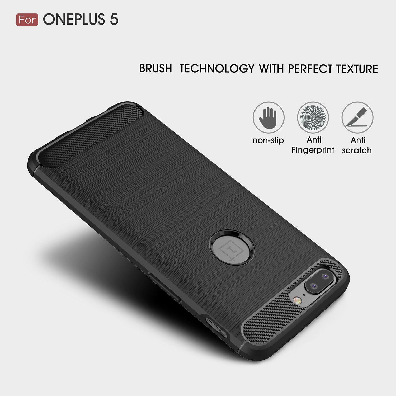 OnePlus 5 Funda, SMTR Cubierta Delgado material de silicona Funda ...