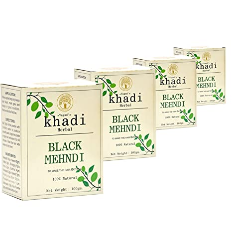 d7e3e2c46 Buy Vagad's Khadi Herbal Black Mehndi - Pack of 4 Online at Low Prices in  India - Amazon.in