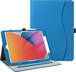 Fintie Case for New iPad 8th Gen (2020) / 7th Generation (2019) 10.2 Inch - [Corner Protection] Multi-Angle Viewing Folio Stand Cover with Pocket, Pencil Holder, Auto Wake/Sleep, Royal Blue