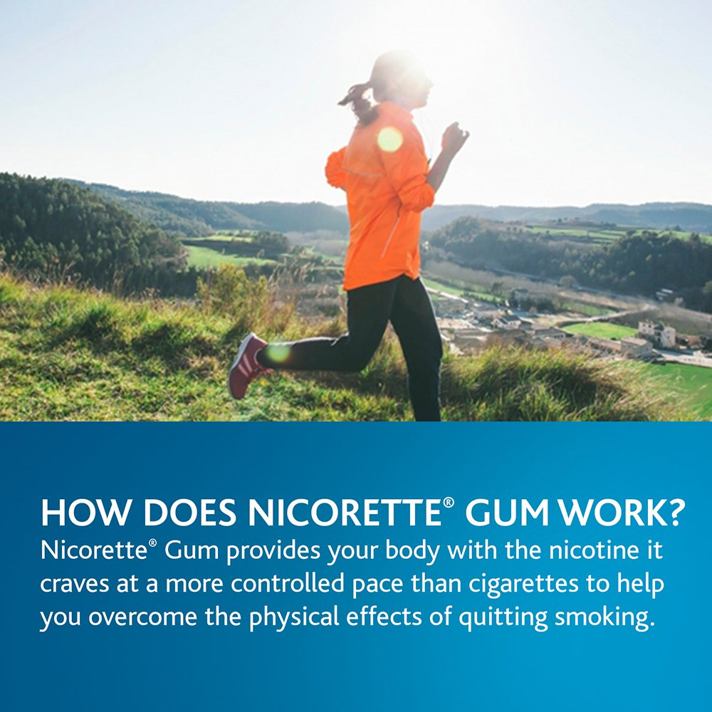 Nicorette Nicotine Gum to Quit Smoking, 4 mg, White Ice Mint Flavored Stop Smoking Aid, 160 Count (Pack of 2) by Nicorette