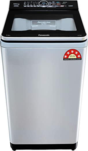 7 Kg Panasonic Washing Machine Fully Automatic Econavi Built-In Heater Top Loading 5 Star NA-F70V9LRB