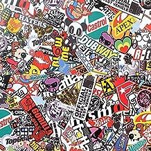 "PerfecTech 60""x20"" JDM Bomb Cartoon Panda Wrap Graffiti Car Sticker Sheet Decal"