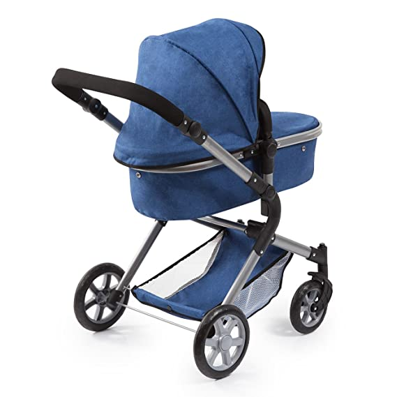 Bayer Design 18135AA Cochecito de muñecas City Neo, convertible, azul, jeans: Amazon.es: Juguetes y juegos