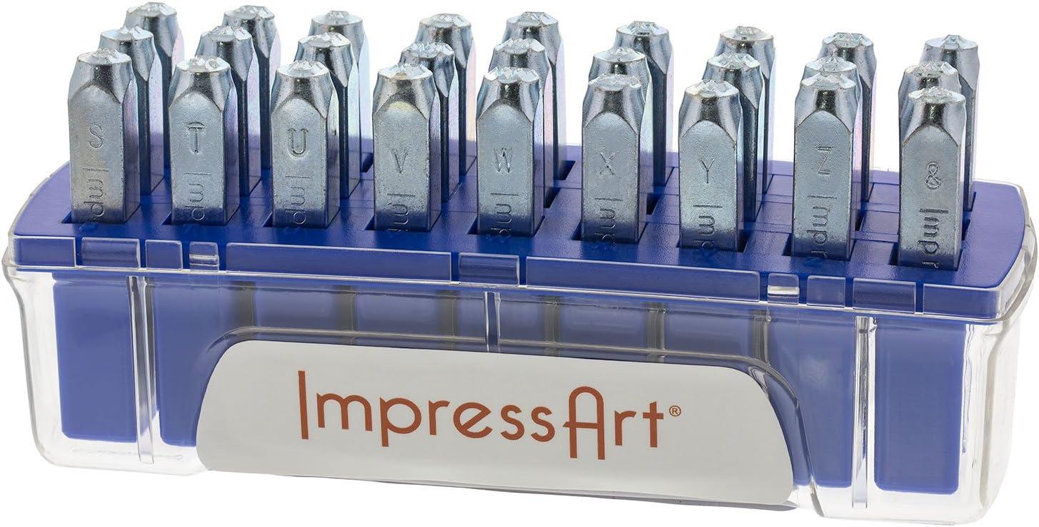 ImpressArt Juniper Uppercase Letter Metal Stamps Set