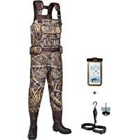 HISEA Hunting Chest Waders for Men with 800G Insulated Boots Waterproof Neoprene Bootfoot Waders
