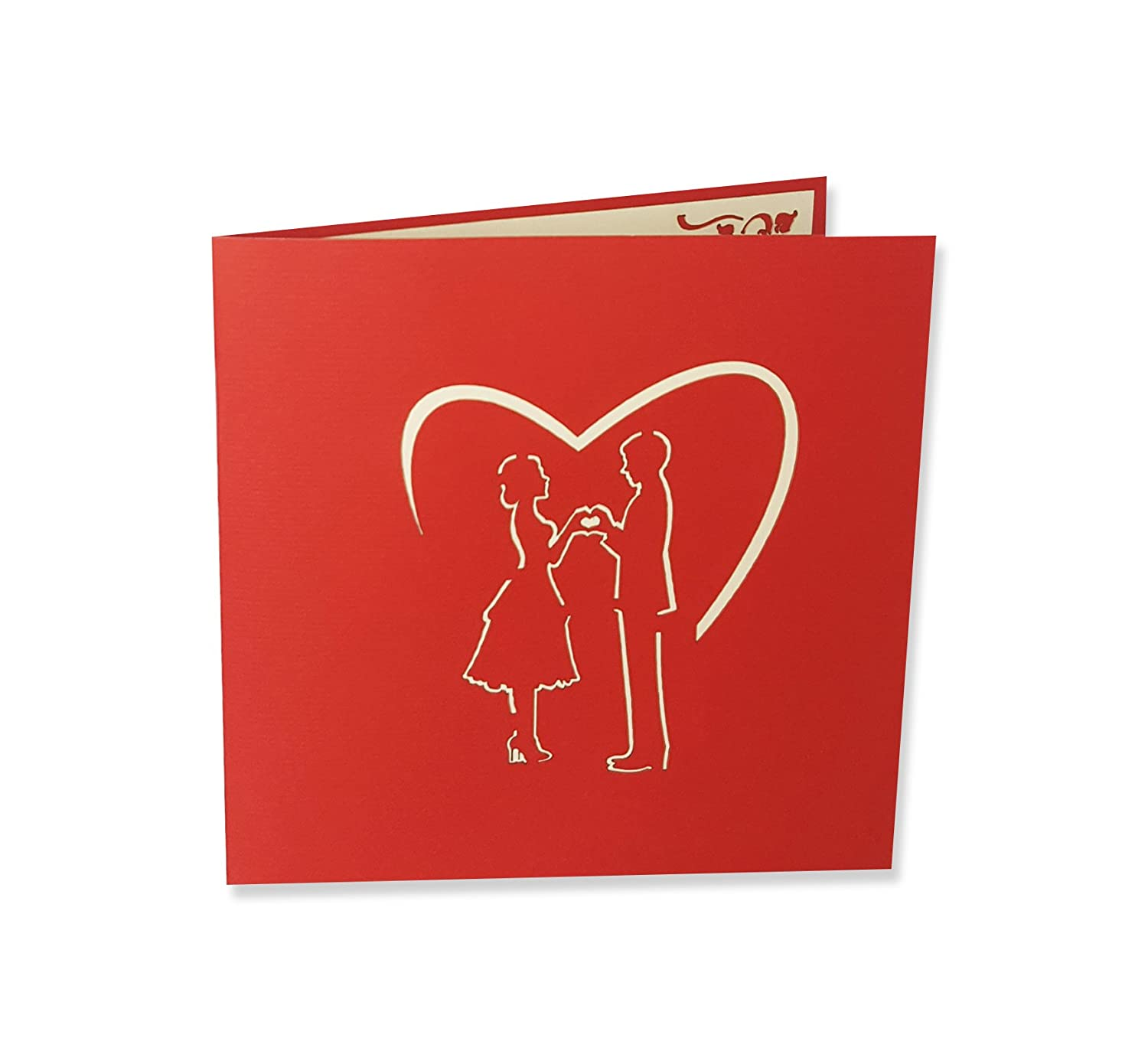 Yokarta 3D Pop-Up Cards | Wedding Card with Envelope | Wedding Party ...