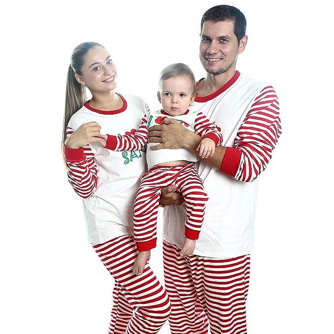 amazoncom fenta christmas pajamas family xmas outfits parent child 2pcs clothes 0 18 months age 2 7 clothing