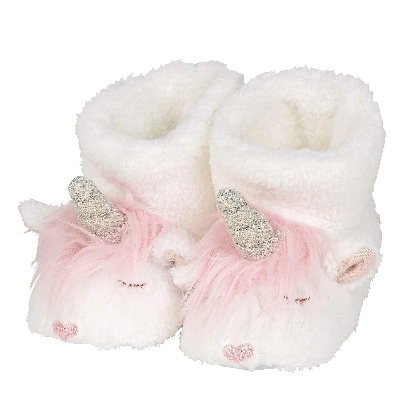 Department 56 Snowpinions, Child Small (Sizes 7-8) Unicorn Slippers, Multicolor 6002760