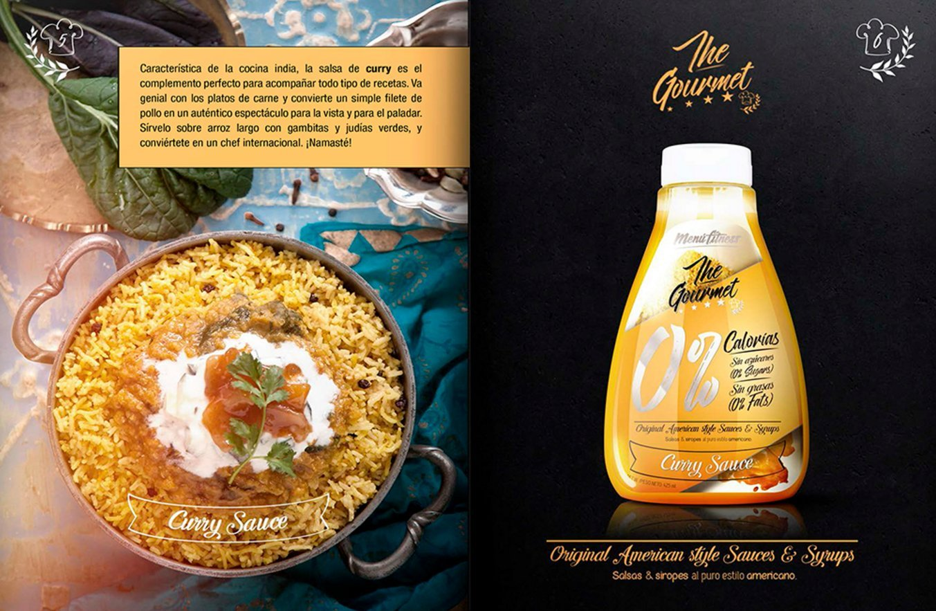 Menú Fitness - Salsa The Gourmet 0% - 425ML (Curry Sauce): Amazon.es: Salud y cuidado personal