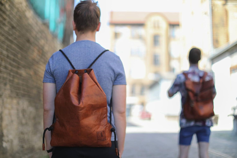 7a0530f2a33f9 Gym Bag Turnbeutel -Berliner Bags- aus Leder Rucksack Sportbeutel ...