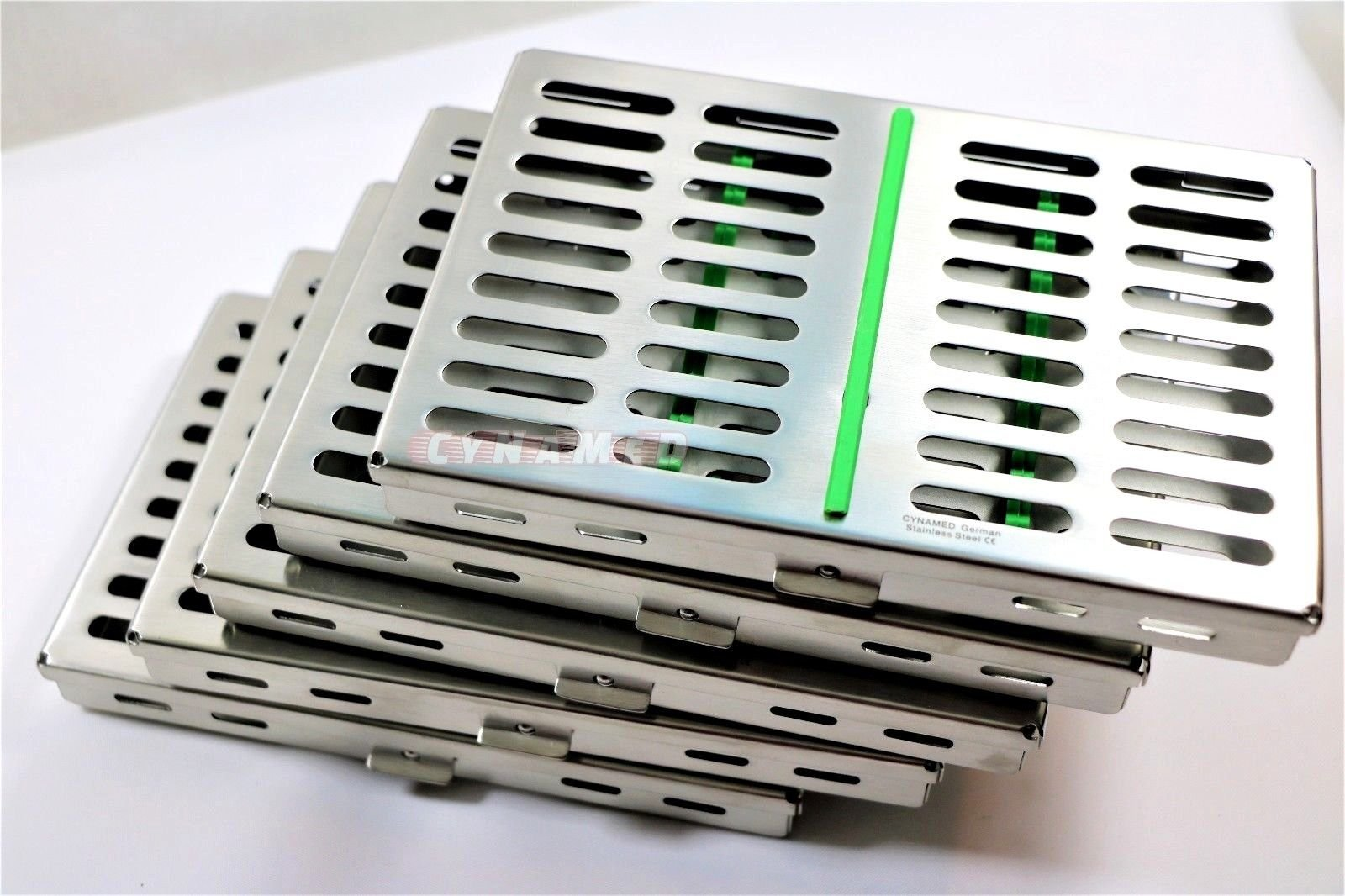10 German Dental Surgical Autoclave Sterilization Cassette Box for 10 Instruments Green CYNAMED by CYNAMED (Image #3)