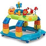 Delta Children Lil' Play Station 4-in-1 Activity Walker - Rocker, Activity Center, Bouncer, Walker - Adjustable Seat Height -