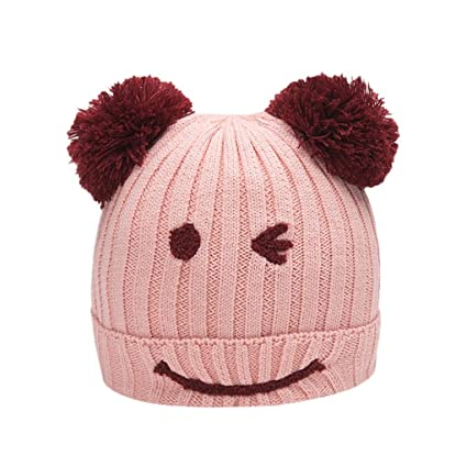 a3f564e3560 Cotton Beanie Smile Ball Warm Winter Hats Baby Children Beanie For Boys  Girls Cap By Raptop