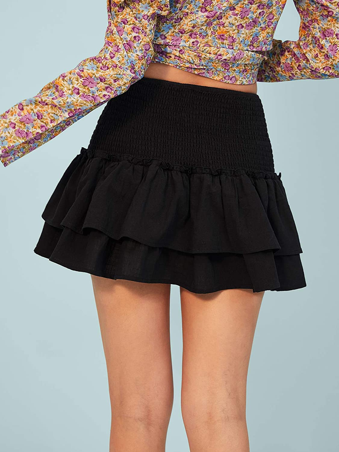 Red White Blue Black Gift Girlfriend Skirt Shi Tou-Clothes Breathable Summer Skirt for Beach