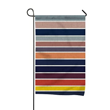 Stripe Home Flag Designer Garden Flag Unique Outdoor Flags Cool Yard Flag