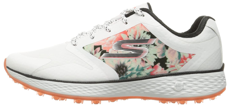 Skechers Women's Go Golf Birdie Golf Shoe B01H07GGNK 6 B(M) US|White/Multi Tropic