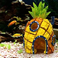 Pineapple Cartoon House Home Fish Tank Aquarium Ornament Decorations Escape Hole