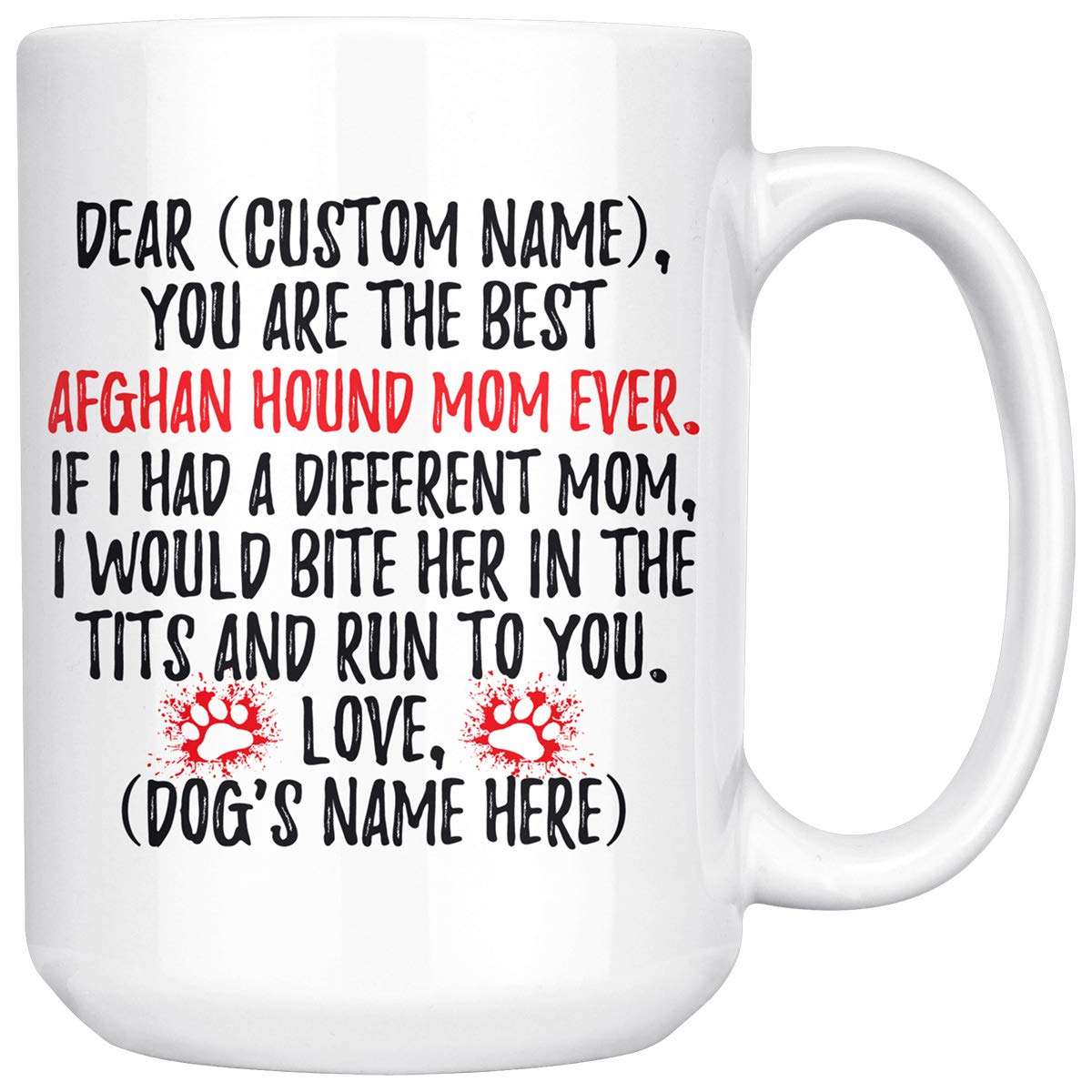 Amazon.com: Personalized Afghan Hound Women Gifts, Afghan Hound Mommy Mug, Afghan Hound Dog Owner, Afghan Hound Mom Present Gift, Afghan Hound Mama Mug (15 ...