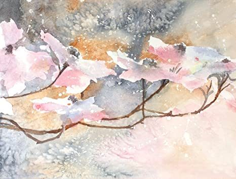 Amazon Com Arthouse Pink Dogwood Giclee Print From Watercolor