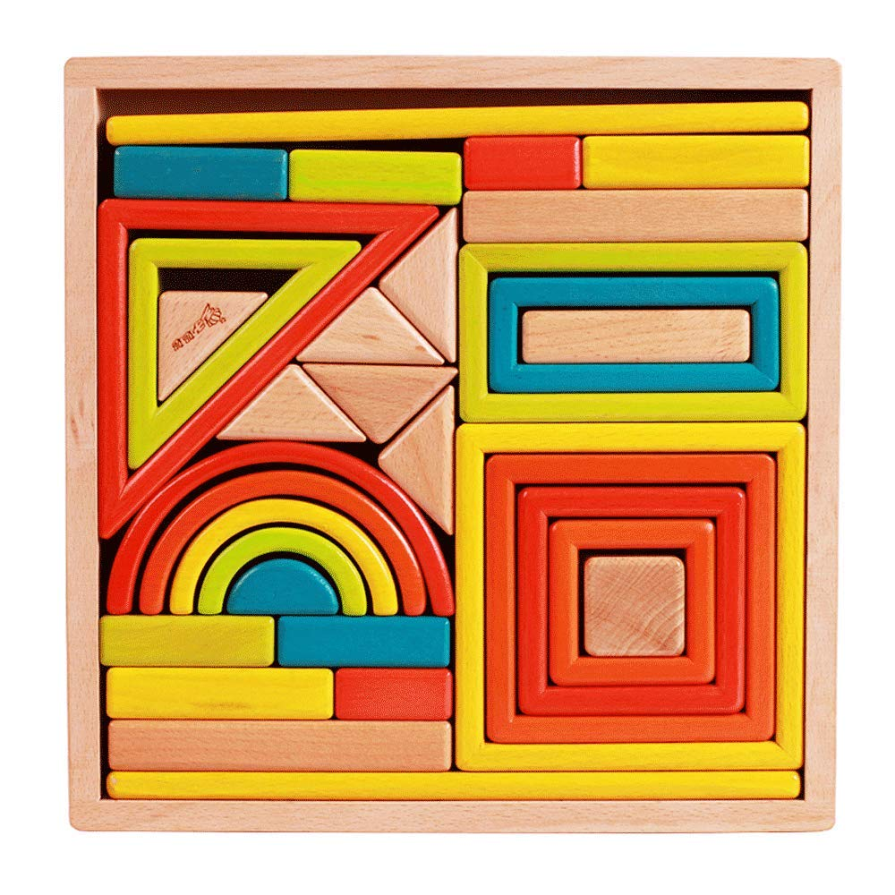 ZaiQu 子供用 木製ブロック 啓発 1-6歳 赤ちゃん 子供 女の子 男の子 赤ちゃん 早期教育 パズル 組み立て式 親子用 インタラクティブおもちゃ   B07KPCBN78