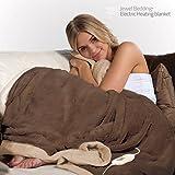 JOLTA® Deluxe Fleece / Plüsch Kuschelheizdecke als Heizdecke und Wärmezudecke