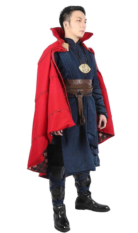 Disfraz Completo de Dr Strange, Capa roja, Disfraz de Cosplay de ...