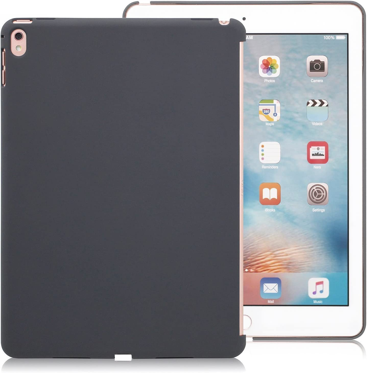 iPad Pro 9.7 Inch Charcoal GrayBack Case - Companion Cover - Perfect match for smart keyboard.