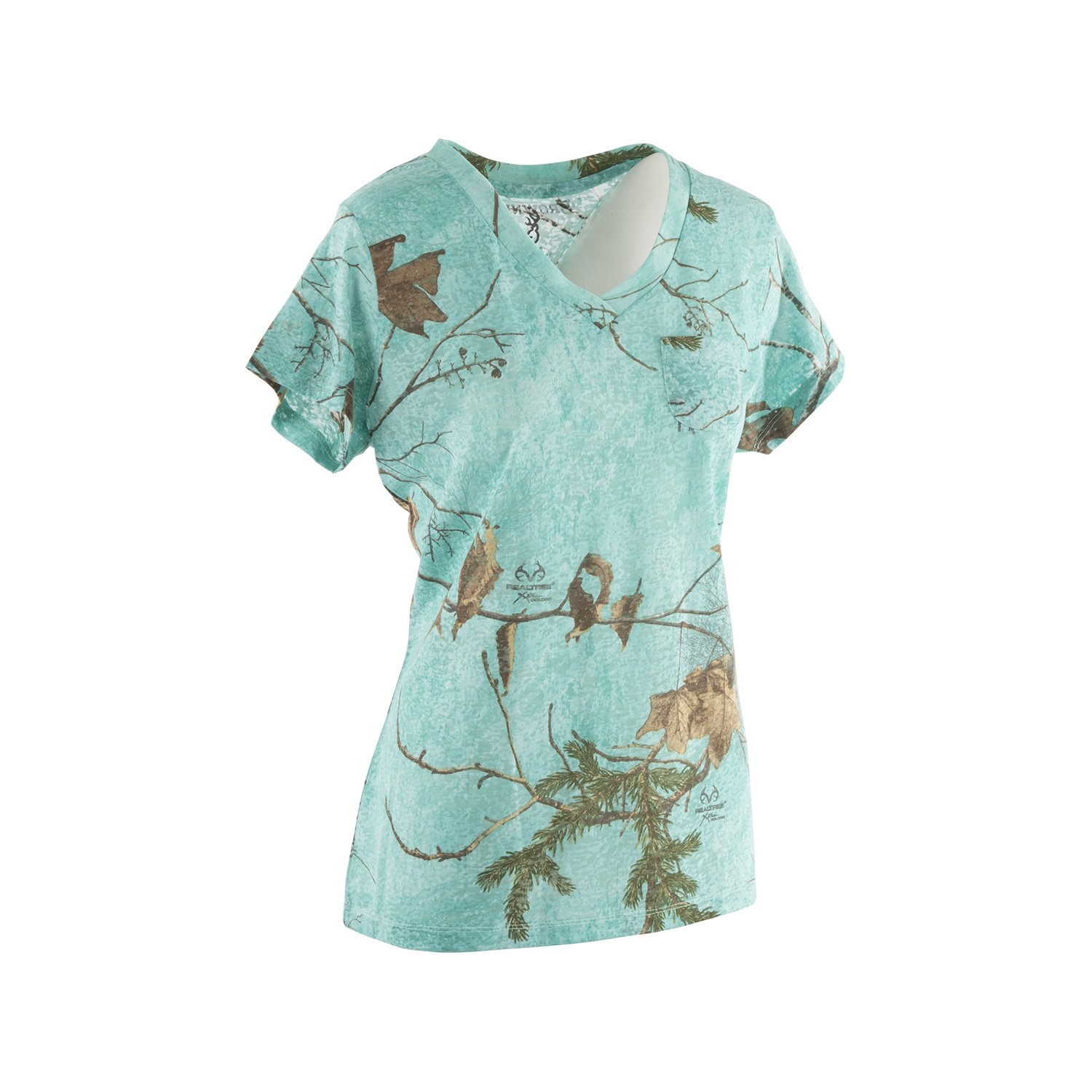 Browning Women's Mila Tee | Realtree Xtra/Seaglass | Large