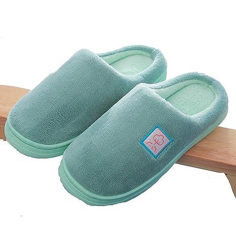 Omiyrk Autunno   Inverno Coppia Piattaforma Ciabatte Casa Interni Caldi  Velluto Corallo Pantofole Di Cotone Antiscivolo d0c92da7bfe