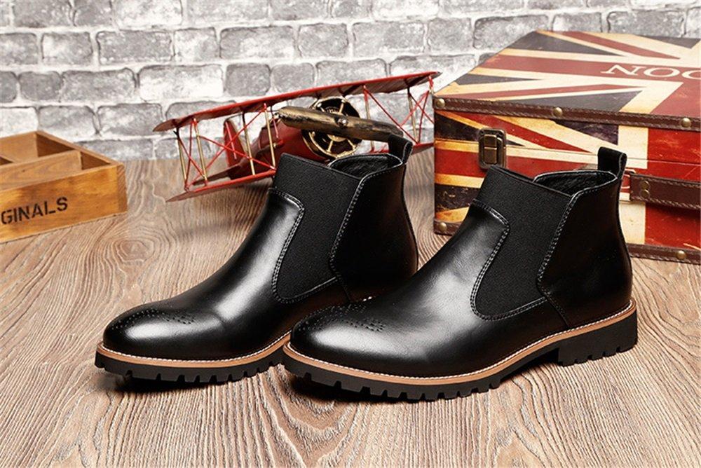 TMKOO Winter Stiefel Neue Plus Samt Martin Stiefel Winter Herren große Leder Stiefel Herren Freizeitschuhe (Color : Black+Wool, Größe : 38) Black+wool 667237