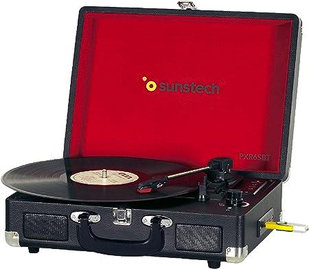 Sunstech PXR6SBTBK - Giradiscos portátil (Bluetooth, USB, MP3) 33 ...