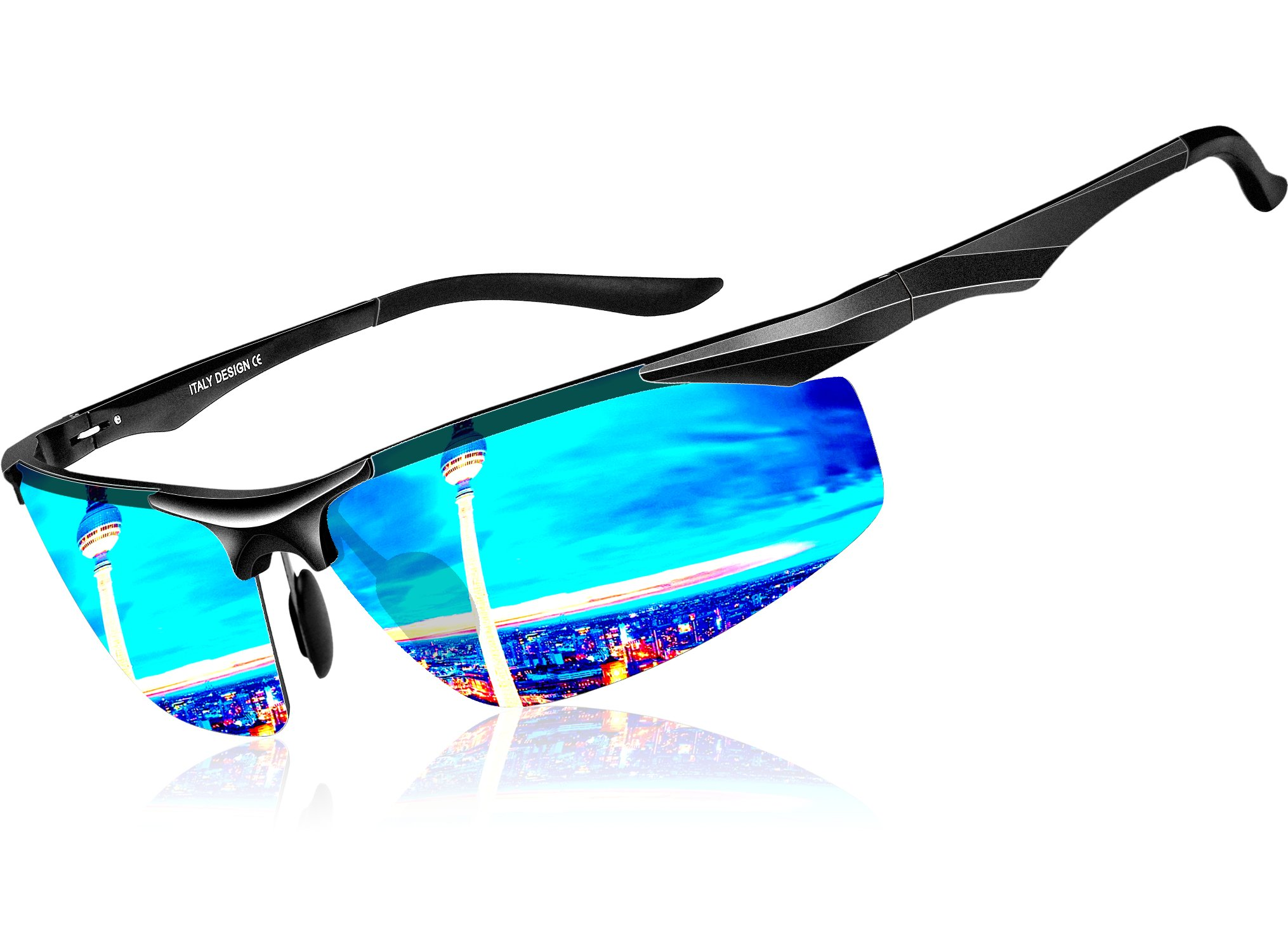 3533fdb0b78 ATTCL Men s Sports Polarized Sunglasses For Driver Golf Fishing Unbreakable  Metal Frame product image
