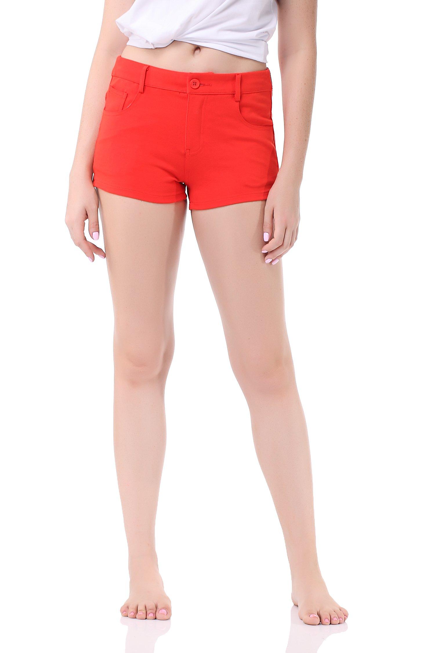 Pau1Hami1ton GP-02 Women's Bermuda Summer Shorts for Women(L,Orange)