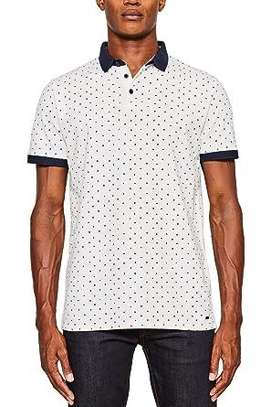 ESPRIT Collection Herren Poloshirt 087EO2K007, Weiß (White 100), Large