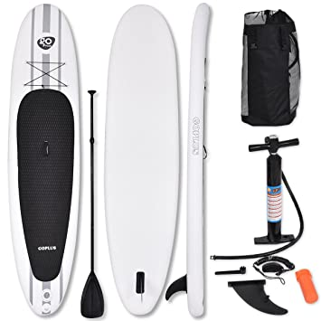 costway 335cm 11ft sup inflatable surfing board soft surf stand up