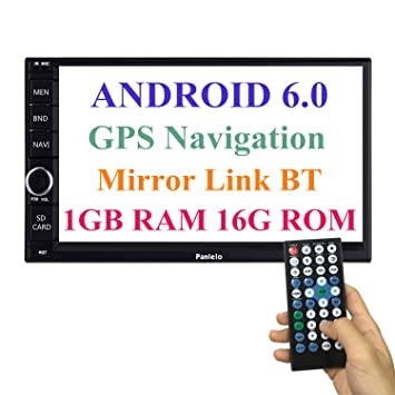 Panlelo Android 6.0 Head Unit Coche Estéreo Navegación GPS 7 Pulgadas Coche Radio Pantalla Táctil Bluetooth WiFi Mirror Link SWC Quad Core 1GB RAM 16GB ROM ...