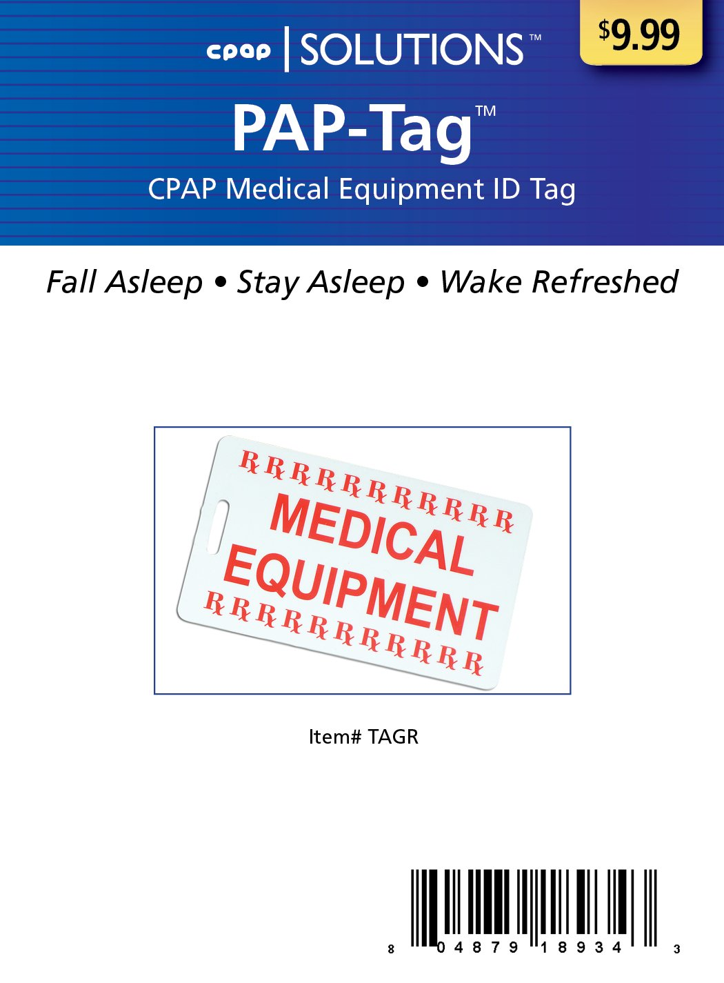 photo about Medical Equipment Luggage Tag Printable referred to as CPAP Health care Applications Baggage Tag by way of Pur-Rest