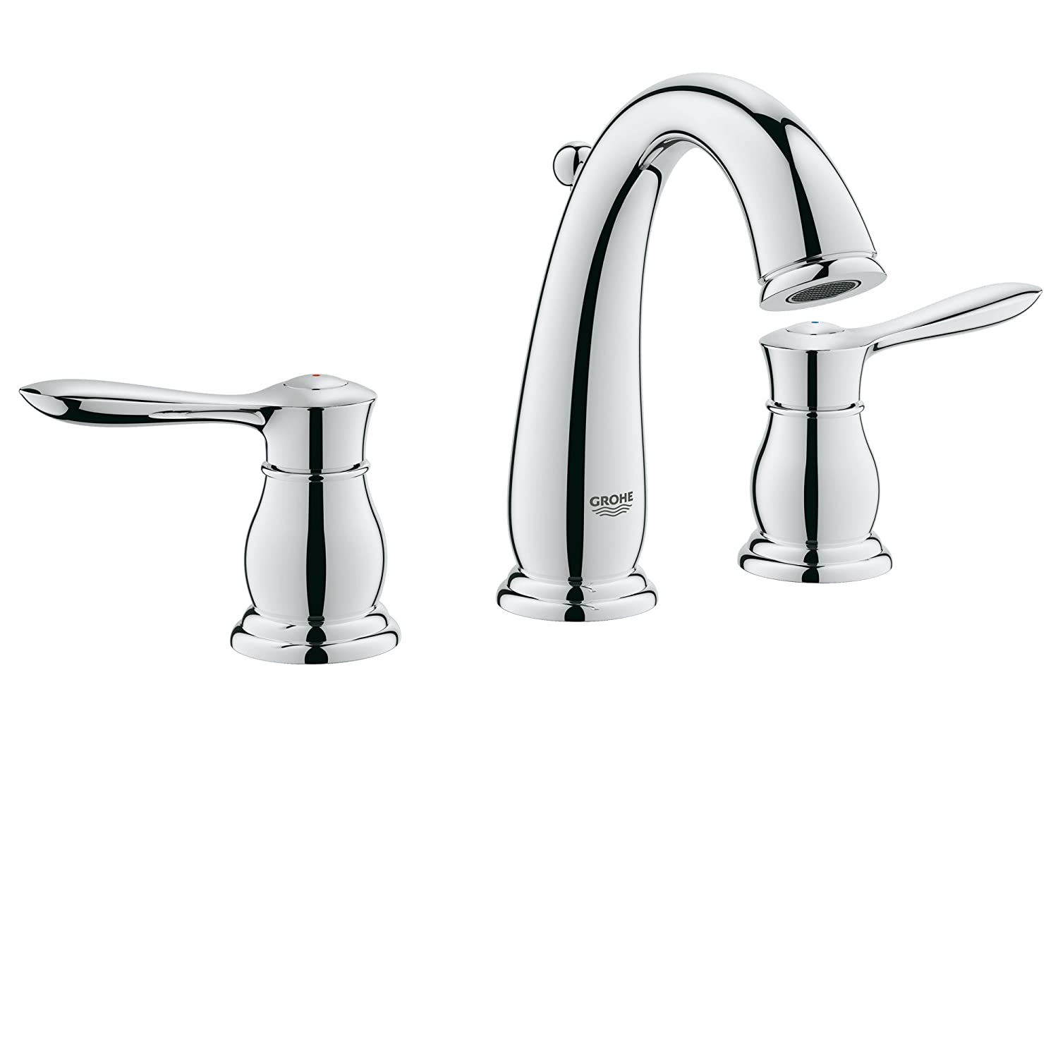 Widespread 2 Handle Bathroom Faucet   1.5 GPM: Home Improvement