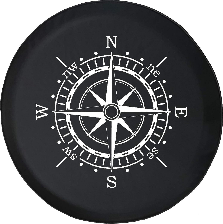 556 Gear Compass Sun Dial Spare Tire Cover fits SUV Camper RV Accessories Black 30 in