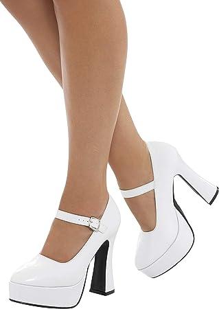 Zapatos de plataforma para mujer de los años 70, talla de Reino Unido 6/US 9 accesorio para disfraz