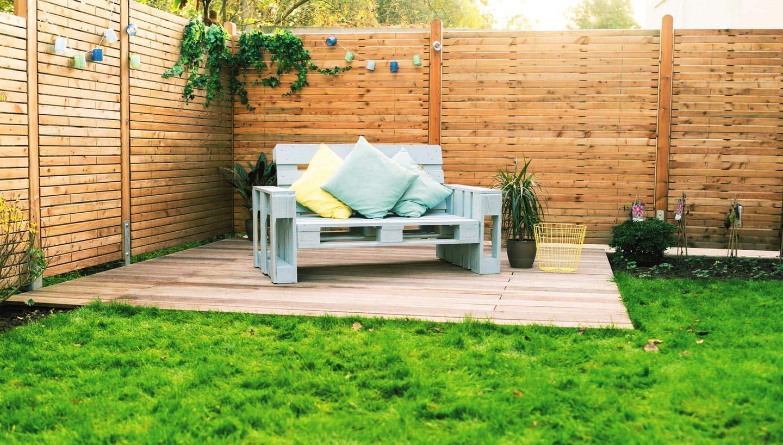 Sofa de palets Europeos para Interior & Exterior & Terraza ...