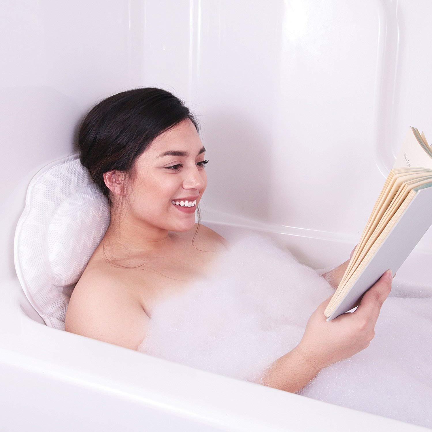 Pure Indulgence Luxury Bath Pillow : Luxurious Bath Pillow For All : Ergonomic Bathtub Cushion for Neck, Back, Head & Shoulders :Designed QuiltedAir Mesh for Breathable Comfort : Includes Carrying Bag Zen Heaven Spa Inc.