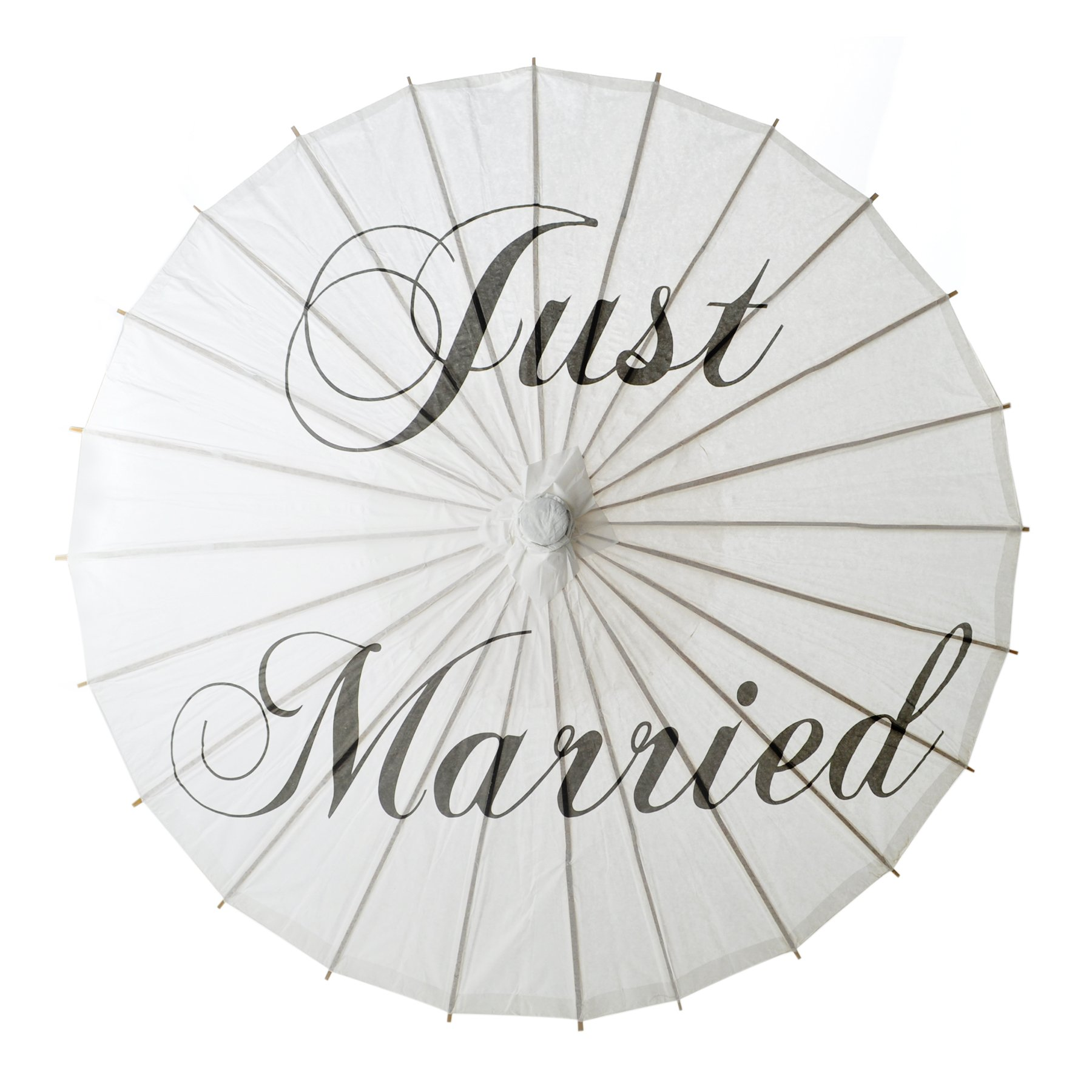 Aspire White Wedding Paper Parasol Umbrella Wedding Party Decoration Bridal Showers Photo Shoots - Just Married,60 PCS by Aspire