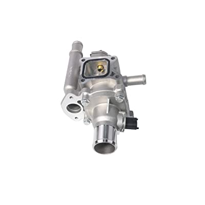 Coolant Thermostat and Housing Assembly with Sensors - Fits Chevy Cruze, Limited, Trax, Sonic 1.8L & 1.6L - Replaces 25192228, 55564890, 55577284, 15-81816, 902-033, 55579951, 96984103 - Full Aluminum: Automotive